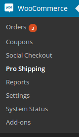WooCommerce Pro Shipping settings link