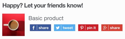 Social Checkout - Flat theme